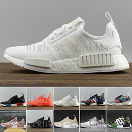 Wholesale Genuine Leather Casual Shoes - 2017 Nmd Xr1 R1 Monochrome Mesh Triple White Black Men Shoe Women Running Shoes Sneakers Originals NMDS Runner Primeknit Casual Shoes 36-45