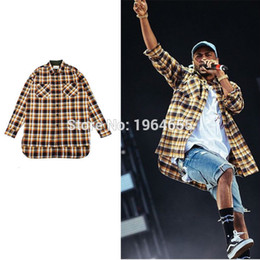 2021 оптовые платья из тартана Wholesale- S-XL men clothes club outfits flannel korean gold long sleeve shirt unique autumn dress shirts FEAR OF GOD  tartan clothing