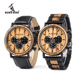 Wholesale Analog Watch China - BOBO BIRD DP09 Male Sainless Steel Watches Vintage Digital Wooden Watches Men Can OEM in China