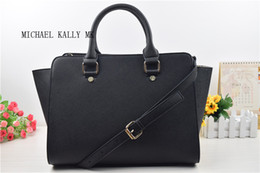 Wholesale Big Zipper Purse - Free shipping new women famous brand MICHAEL KALLY MK handbags selma shoulder tote bags purse PU leather summer beach bag big size 3036