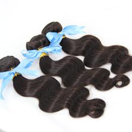 Wholesale Double Drawn Body Wave - Wholesale Brazilian human hair bundles Natural Black Color 3pcs Body Wave brazilian hair weave bundles double drawn,No shedding,tangle free