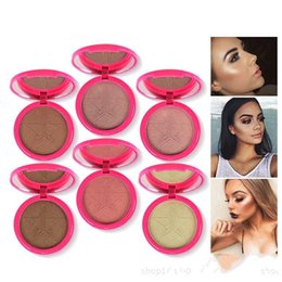 Wholesale Cake Shimmer - in 2017 The latest hot style kylie kelly 6 color earth highlights grooming powdery cake DHL free home delivery