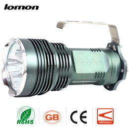 Wholesale Search Flashlight - Cree XML T6 Rechargebale Flashlight LED miner's Lamp Waterproof Searchlight Handheld Search Light+4 x Battery + Charger Portable Handy Torch