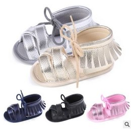 Wholesale Baby Walking Sandals - Baby Toddler Shoes tassels Baby Moccasins Soft Fashion new Newborn First Walking Shoes fit 0-1T Infant boys girls PU leather sandals T5074