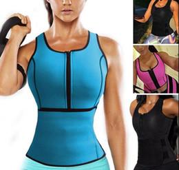 Wholesale Spandex Bodysuits - Neoprene Sauna Vest Body Shaper Slimming Waist Trainer Hot Shaper Summer Workout Shapewear Adjustable Belt Corset shapers bodysuit 8 color