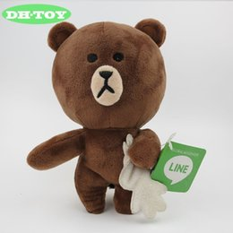 cony brown bear Australia - 1 pcs sell Japan Line Friends Cony rabbit and Brown bear Plush Toys Doll Stuffed for Girlfriend Children Xmas Gifts 18CM 6style