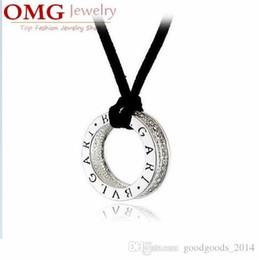 Wholesale Korean Diamond Necklace - Alloy silver plated pendant necklace Inlaid diamond Korean fashion jewelry [SKU:A065]