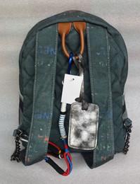 Wholesale Vintage Fabric Designs - High Quality Fashion Backpack Graffiti Travel Bag New Design Vintage Style Storage Schoolbag Shoulders Bag Youth Doodle Backpack
