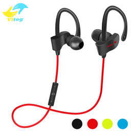 Wholesale Waterproof Bluetooth Earphones - 56S Wireless Bluetooth Earphones Waterproof IPX5 Headphone Sport Running Headset Stereo Bass Earbuds Handsfree With Mic
