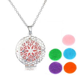 Wholesale Hollow Lockets - 925 Silver Censer Aromatherapy Locket Essential Oil Diffuser Floating Hollow Locket Pendant Necklaces Perfume Locket Necklace EXL118