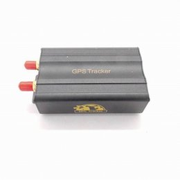 Wholesale Automotive Timing - Real-Time GSM GPRS Tracking Vehicle Car GPS Tracker 103A Tk103A TK103 GPS103A Real time tracker LBS tracker SOS Vibration sensor + speaker