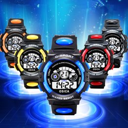Wholesale Best Alarm Watch - NEW multi-function children's electronic watches 5 colors Luminous alarm clock calendar time unisex sports watches child best gift