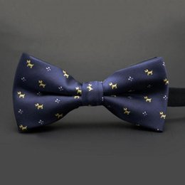 Wholesale Mens Bow Ties Plaid - 10 Colors Bow Tie Mens Polyester Silk Bow Tie Solid Plaid Bow Ties Wedding Pardy Butterfly BowTie Cravat Neckwear Drop shipping