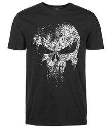 Wholesale 2016 summer new casual Punisher Skull Marvel t shirts for man streetwear hip hop Comics Supper Hero Men T Shirt fashion Tops Tee