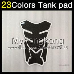 Wholesale Suzuki Gsxr Tank Pads - 23Colors 3D Carbon Fiber Gas Tank Pad Protector For SUZUKI GSXR750 GSXR600 14 15 16 17 GSXR 600 750 2014 2015 2016 2017 3D Tank Cap Sticker