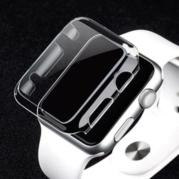 Wholesale Box For Pack Watches - Clear Hard watch case Ultra Thin(0.5) Full Body Case for Apple smart Watch S1 S2 38MM 42MM defender cover protector case box pack GSZ207