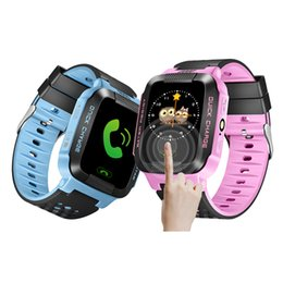 Wholesale Gsm Gprs Watch Phone - Y21 Smart Watch Phone for Children Kid Child GPS SmartWatch Touch screen SIM SOS GSM GPRS GPS LBS Locator Tracker for ios android