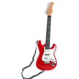 Wholesale Red Guitar Toys - 25inch kids simulation electric Guitar gift 6 String Musical Instruments toys