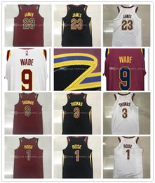 Wholesale M L Xl Xxl - Mens 2017-18 New season jerseys 23 LeBron James 9 Dwyane Wade 1 Derrick Rose 3 Isaiah Thomas 100% Stitched jersey free shipping.