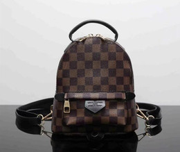 Wholesale Laptop Bags Backpack Style - Luxury brand women bag School Bags PU leather Fashion Famous designers backpack women travel bag backpacks laptop bag
