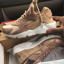 Wholesale Women Trainers Sale - Hot Sale Air Huarache Running Shoes For Men Women Rose Gold High Quality Sneakers Triple Huaraches Trainers huraches Sport Shoes