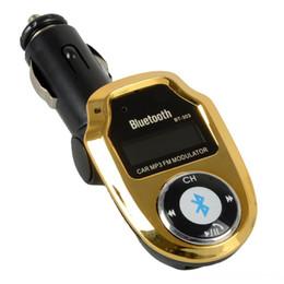 Передатчик bt онлайн-3 цвета BT-303 автомобильный комплект MP3 Bluetooth-плеер FM-передатчик модулятор SD USB Remote Бесплатная доставка