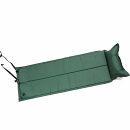 Wholesale Mat Camp - Wholesale- Outdoor Waterproof Dampproof Sleeping Pad Tent Air Mat Mattress Camping Automatic Inflatable Mat with Pillow 183*60*2.5cm