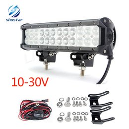 Wholesale Car Work Light 12v - 12Inch 120W CREE Led Light Bar Flood Spot Combo Offroad Work Driving Lamp use for car SUV