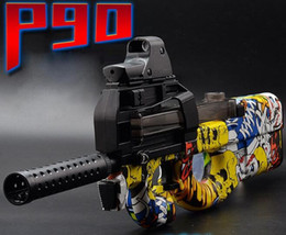 Wholesale Toy Assault Guns - graffiti edition p90 electric toy gun paintball gun live cs assault snipe soft water burst in free toy gun bullet