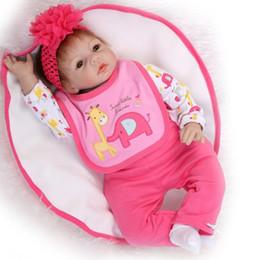"""roupas de plástico para meninas Desconto Venda quente- Bebe bebês renascer 22 """"NPK silicone corpo mole s para crianças presente falso bebê real vivo bebês recém-nascidos bonecas reborn"""
