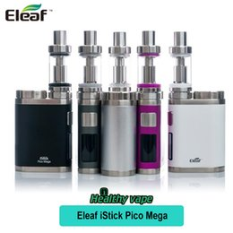 Wholesale Mega Pink - Original Eleaf iStick Pico Mega Kit 80w use 26650 or 18650 Battery Melo3 Atomizer 4ml Capacity Melo 3 New EC NC 0.25ohm Head