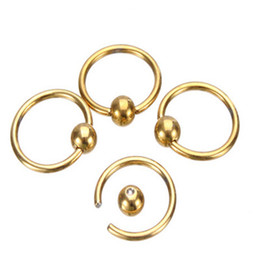 Wholesale Navel Stud Free Shipping - Wholesale Body Bar Rings MixColor Stainless Steel Nose Navel Belly Lip Nipple Eyebrow Ear Studs Ball Piercing Kit Body Jewelry Free Shipping