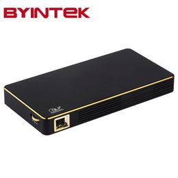 Wholesale Discount Android - Wholesale- BYINTEK Big Discount Mini projector portable Home Theater MD322 Android Wifi 8GB USB Airplay Bluetooth HDMI Proyector Beamer