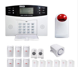 Wholesale Diy Gsm Wireless Alarm System - 12 v YA-500-GSM-28 DIY alarm 99 wireless defense zones Wireless Home Security Burglar GSM SMS Alarm System