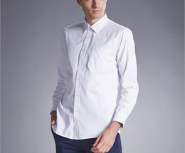 Wholesale Dress Shirt For Men Pink - Amazing 2017 Groom Wear Long Sleeve Shirt Man Wear For Wedding & Formal Event Cheap Tuxedo White Shirt With Buttons Plus Size Groom Shirts