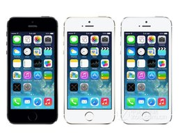 Wholesale Dual Cell Phone Free Shipping - Free DHL shipping Original screen Unlocked Apple Iphone 5S 16GB 32GB 64GB A7 Dual core 8MP Camera GSM WCDMA LTE IOS MultiLanguage Cell phone