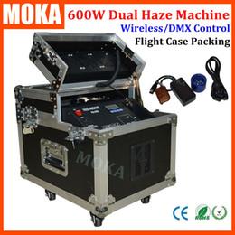 Wholesale Fogger Machine - Remote dmx fog machine 600w stage smoke machine flightcase packing dual haze machine fogger projector for wedding