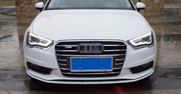 Wholesale Audi A3 Grille - 1 set Stainless steel Car Front Grille decorative cover trim strips for Audi A3 Sedan Hatchback 2014-16 Car styling decals