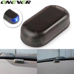 Sistema de alarma para automóvil Onever Energía solar Alarma automática del coche Advertencia de seguridad Precaución antirrobo LED Color azul claro desde fabricantes