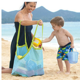 Wholesale Classic Baby Clothes Sets - New Arrive Applied Enduring Children sand away beach mesh bag Children Beach Toys Clothes Towel Bag baby toy collection nappy