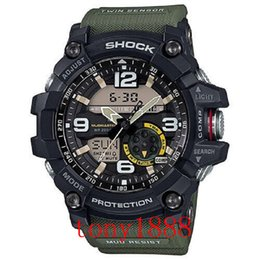 Wholesale 29 Led - High quality AAA men's g sports GG1000 Compass and thermometer functions watch LED chronograph shock all function work waterproof with box
