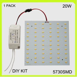Wholesale Panel Mounted Switches - 110V 120V 2 year warranty surface mounted 20W LED Panel ceiling light kit led 2d light 15*15cm 2100lm square for led advertising light