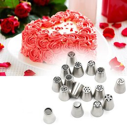 Wholesale Stainless Steel Icing Piping Tips - Stainless Steel Russian Piping Tips Cake Nozzles Mold Pastry korean Icing Piping Nozzles Tips Cakes Decorating Tools