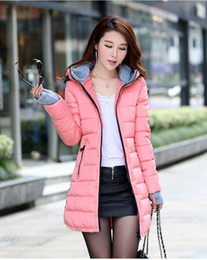Wholesale Ladies Female Hooded - Wadded Jackets 2017 Female New Women's Winter Down Jacket Cotton Slim Women Down Parka Ladies Coat plus size M-XXXL A020