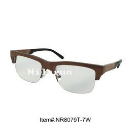 977142d6eb2 high quality walnut wood half frame optical reading glasses
