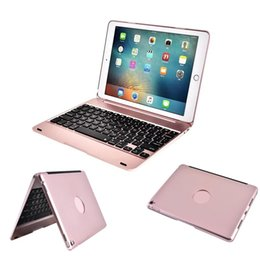 Wholesale Pink Ipad Screen - Bluetooth Keyboard Case For iPad Pro 9.7 inch   iPad Air 2 Muti-angle Stand Folio Wireless Cover Smart Auto Sleep   Wake up Function