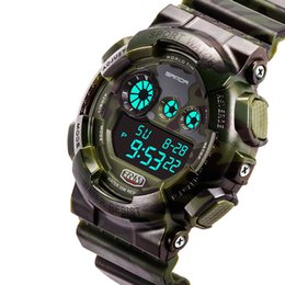 Wholesale Famous Electronics - 2017 Army Military Watch Men Top Brand Luxury Famous LED Digital Sport Wrist Watch Male Clock Electronic Relogio Masculino Drop Shipping