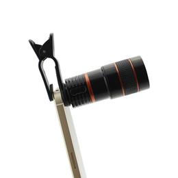 Zoom óptico lente para telemóvel on-line-Universal 8X Zoom Óptico Telescope Camera Clipe de Lente Do Telefone Móvel Para telefones inteligentes comprimidos
