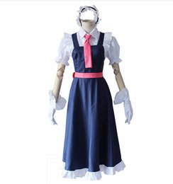 Cosplay costume maid japonês on-line-Anime japonês Miss Kobayashi Dragon Maid cosplay / Kobayashi San Chi No Meidoragon Tohru Traje Camisa + Vestido por conjunto