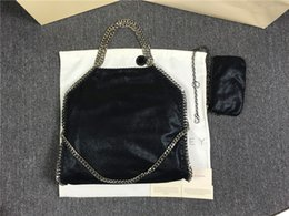 Wholesale Two Fold - Factory sale FALABELLA stella Shaggy deer classical 3 chain fold over lady shoulder bag 37cm*36cm